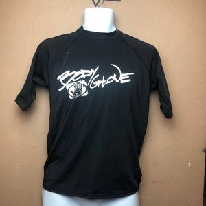 Body Glove Black Rash Guard Short Sleeve Sz XL